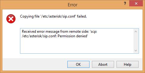 แก้ไขปัญหา WinSCP Permission Denied เมื่อต้องการแก้ไขสิทธิ์