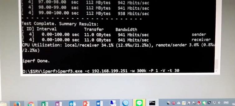 การใช้งานโปรแกรม iperf3 เพื่อทดสอบแบนวิด ในระบบเน็ตเวิร์คของท่าน