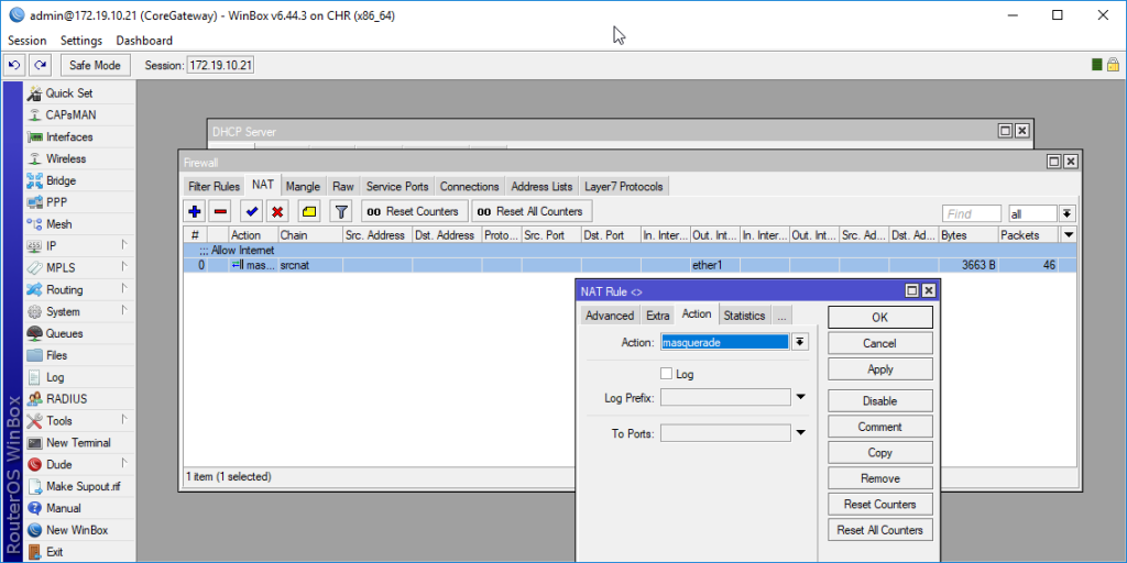 LAB-MikroTik+Cisco Switch ตัวอย่างการสร้างวีแลนและการใช้งาน